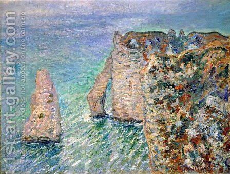 The Rock Needle and the Porte d'Aval by Claude Oscar Monet - Reproduction Oil Painting