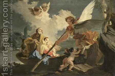 The Flight to Egypt by Giovanni Battista Tiepolo - Reproduction Oil Painting