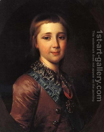 Alexander I, as a child by Dmitry Levitsky - Reproduction Oil Painting