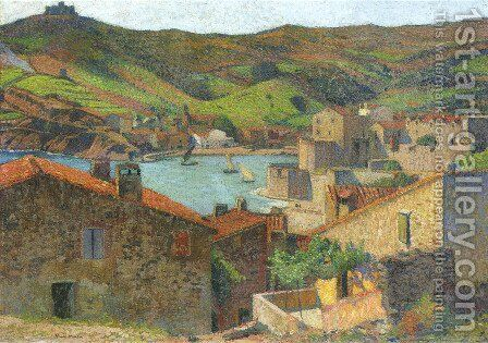 The Village at Port Collioure by Henri Martin - Reproduction Oil Painting