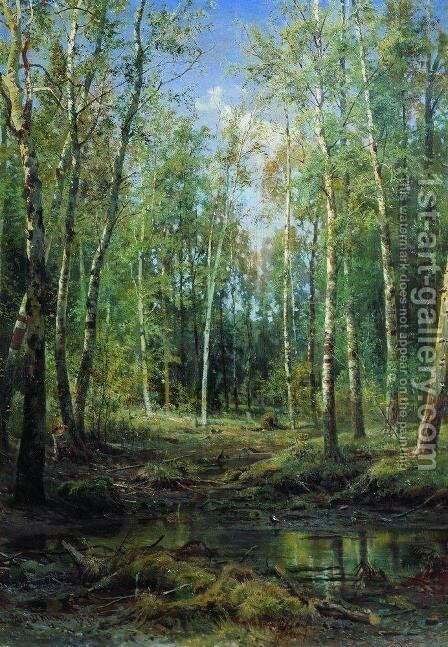 Birch Grove 3 by Ivan Shishkin - Reproduction Oil Painting