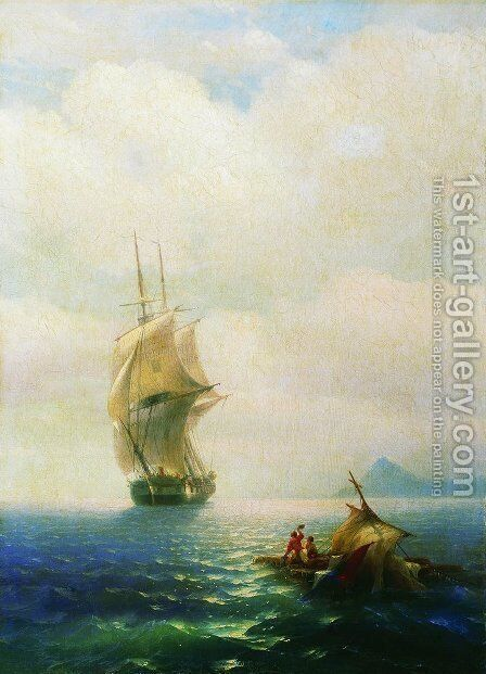 After the storm by Ivan Konstantinovich Aivazovsky - Reproduction Oil Painting