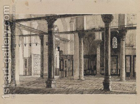 Transept of the Mosque of El Aksa by James Jacques Joseph Tissot - Reproduction Oil Painting