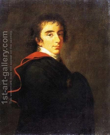 Portrait of Count Pavel Shuvalov by Elisabeth Vigee-Lebrun - Reproduction Oil Painting