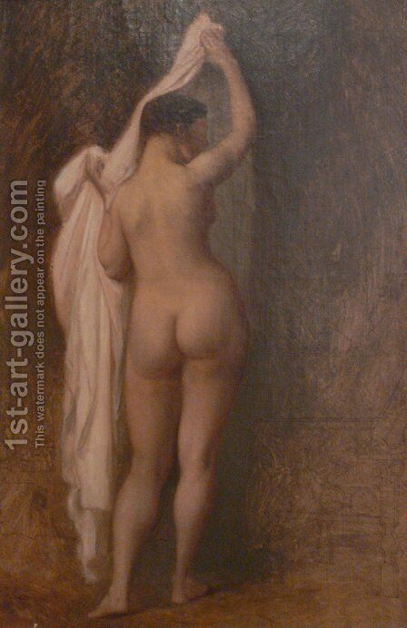 Nude from behind (Study for King Candaule) by Jean-Léon Gérôme - Reproduction Oil Painting