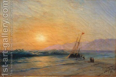 Sunset at Sea 2 by Ivan Konstantinovich Aivazovsky - Reproduction Oil Painting