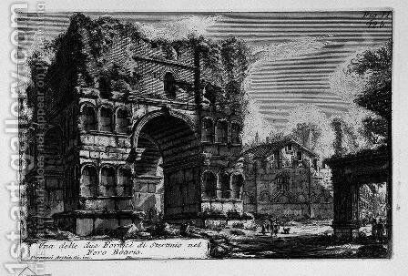 The Roman antiquities, t. 1, Plate XXI. Arch of Janus. by Giovanni Battista Piranesi - Reproduction Oil Painting