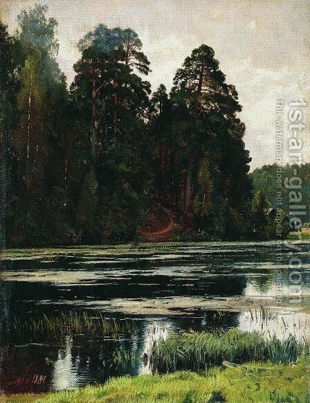 Pond 2 by Ivan Shishkin - Reproduction Oil Painting
