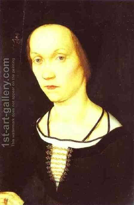 Portrait of a Woman by Hans, the Younger Holbein - Reproduction Oil Painting