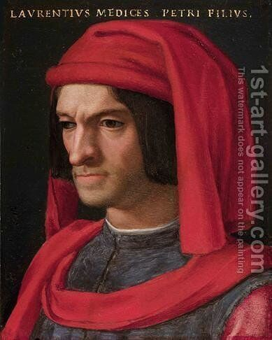 Portrait of Lorenzo the Magnificent by Agnolo Bronzino - Reproduction Oil Painting