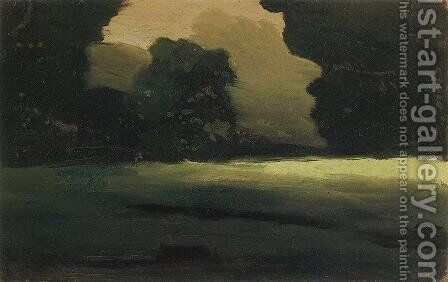 Forest Glade. Fog by Arkhip Ivanovich Kuindzhi - Reproduction Oil Painting