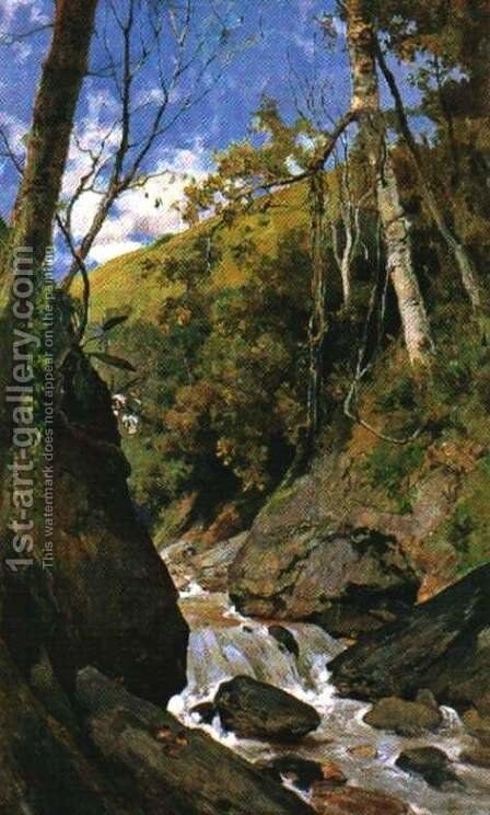 Cascada de Catuche by Arturo Michelena - Reproduction Oil Painting
