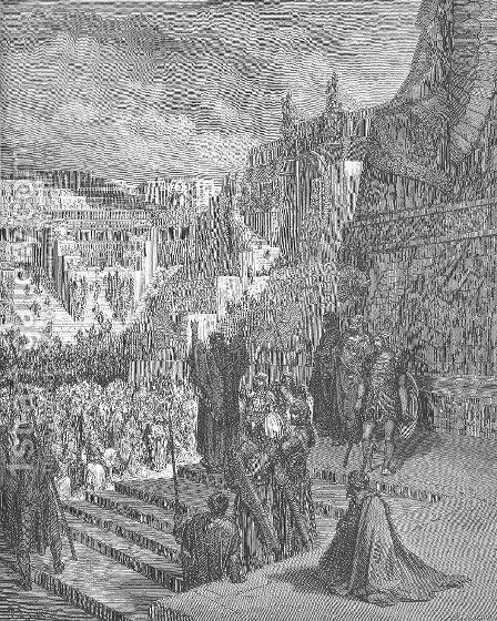Artaxerxes Granting Liberty to the Jews by Gustave Dore - Reproduction Oil Painting