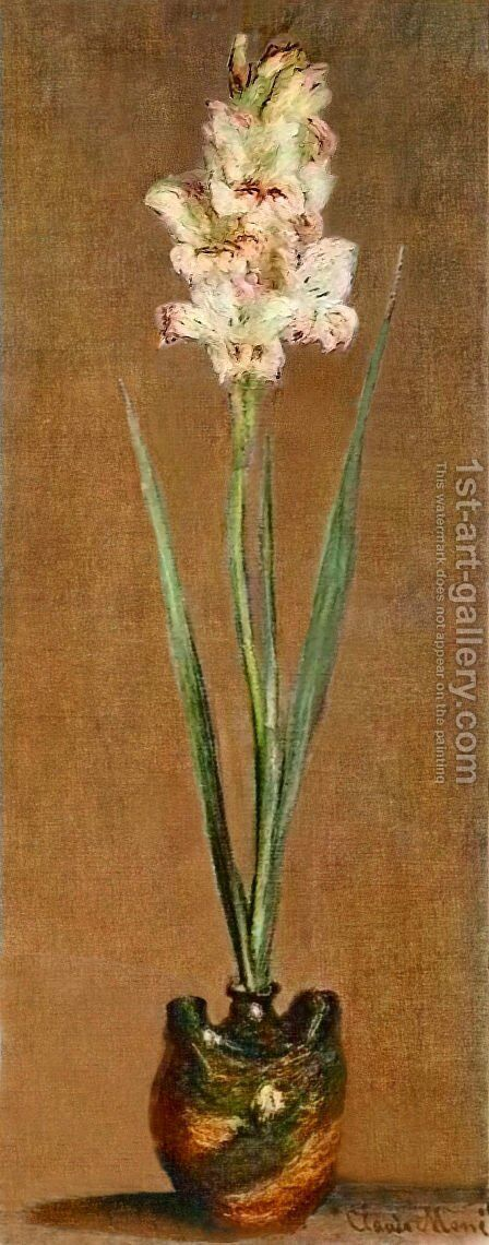 Gladiolus 2 by Claude Oscar Monet - Reproduction Oil Painting