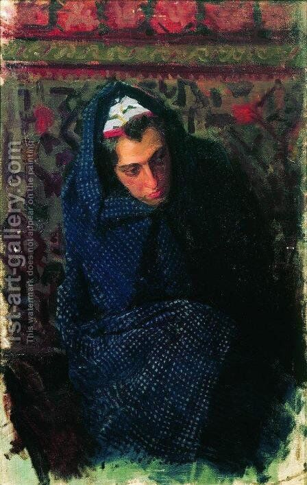 Portrait of a Woman 2 by Boris Kustodiev - Reproduction Oil Painting