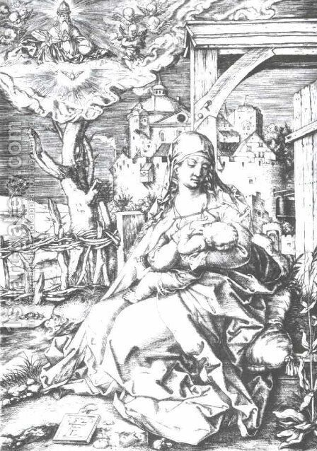 Mary at the gate by Albrecht Durer - Reproduction Oil Painting