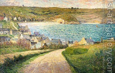 The Beach at Morgat by Maxime Maufra - Reproduction Oil Painting