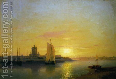 Smolny Convent by Ivan Konstantinovich Aivazovsky - Reproduction Oil Painting
