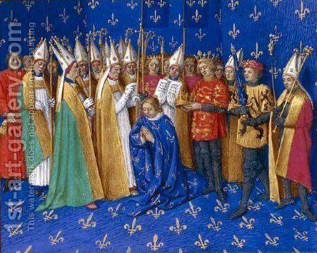 Coronation of Philippe Auguste by Jean Fouquet - Reproduction Oil Painting
