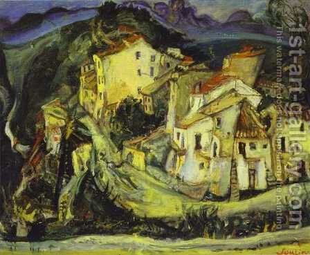 Houses of Cagnes by Chaim Soutine - Reproduction Oil Painting