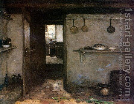 Cellar interior by Jan Hendrik Weissenbruch - Reproduction Oil Painting