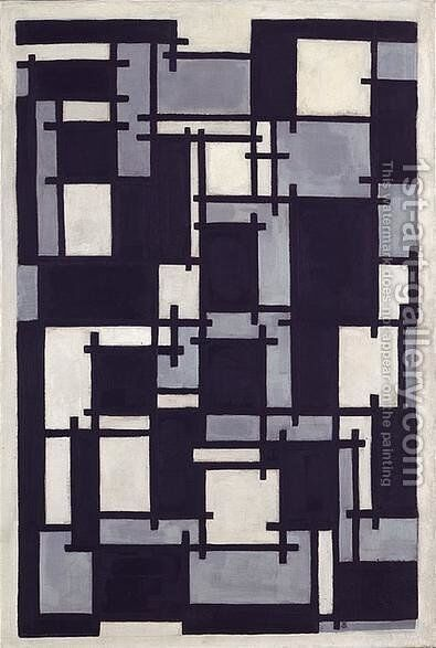 Composition X by Theo van Doesburg - Reproduction Oil Painting