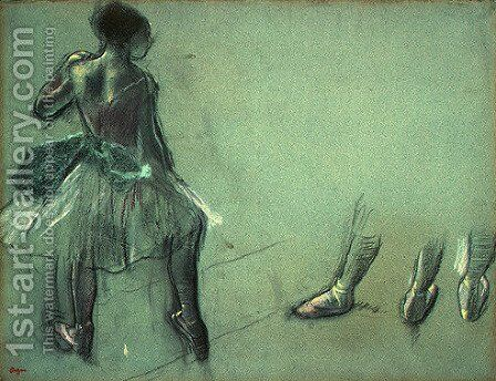 Dancer Seen from Behind and 3 Studies of Feet by Edgar Degas - Reproduction Oil Painting