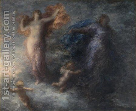 Dawn and Night by Ignace Henri Jean Fantin-Latour - Reproduction Oil Painting