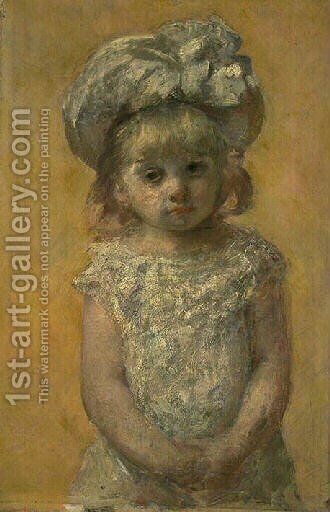 Portrait of girl by Mary Cassatt - Reproduction Oil Painting