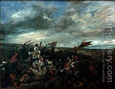 Battle of Poitiers by Eugene Delacroix - Reproduction Oil Painting