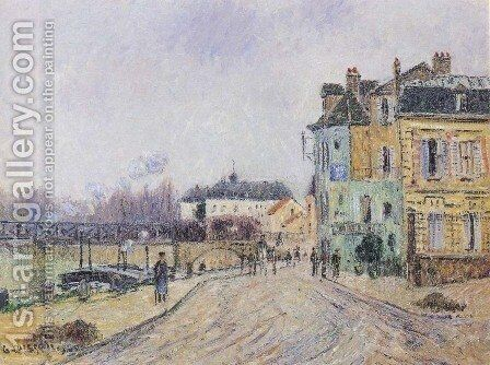 Quay on Oise in Pontoise by Gustave Loiseau - Reproduction Oil Painting