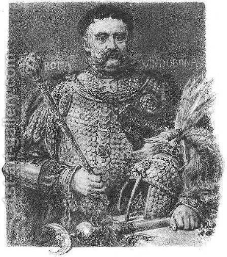 Jan Sobieski, portraited in a parade scale armour by Jan Matejko - Reproduction Oil Painting