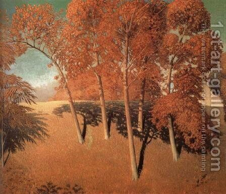 Spring's Oak by Grant Wood - Reproduction Oil Painting