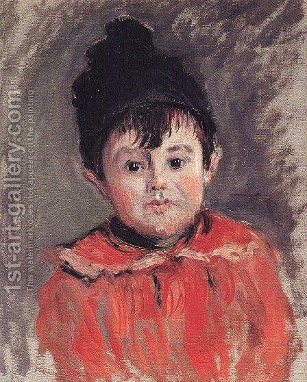 Portrait of Michael with Hat and Pom Pom by Claude Oscar Monet - Reproduction Oil Painting