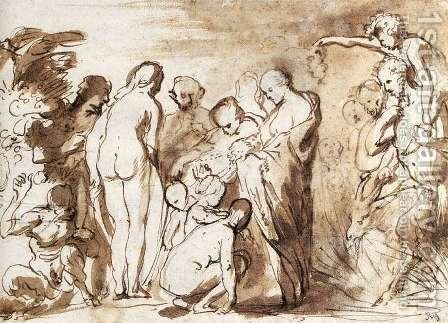 Allegory of Fertility (sketch) by Jacob Jordaens - Reproduction Oil Painting