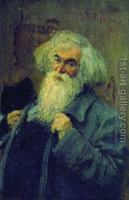 Portrait of the author Ieronim Yasinsky by Ilya Efimovich Efimovich Repin - Reproduction Oil Painting
