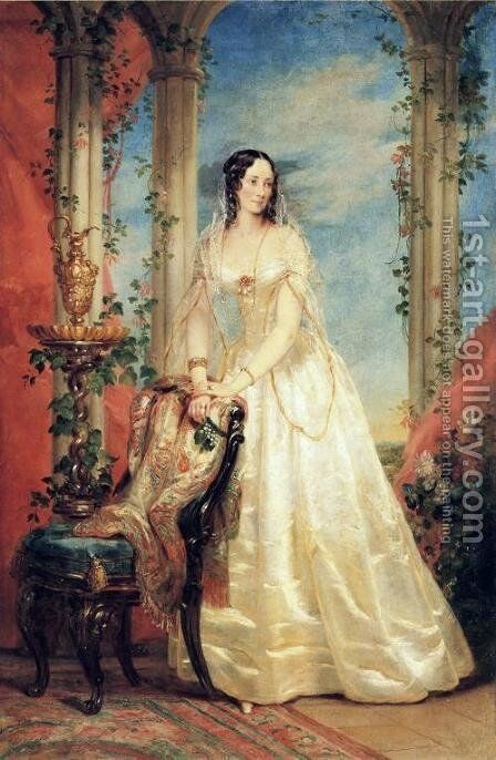 Portrait of Princess Zinaida Yusupova by Christina Robertson - Reproduction Oil Painting