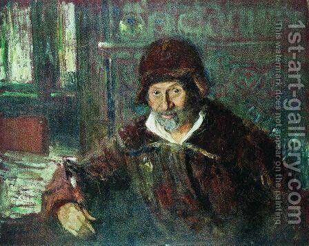 Self portrait 6 by Ilya Efimovich Efimovich Repin - Reproduction Oil Painting