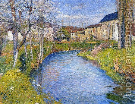 The Labastide du Vert in Spring by Henri Martin - Reproduction Oil Painting