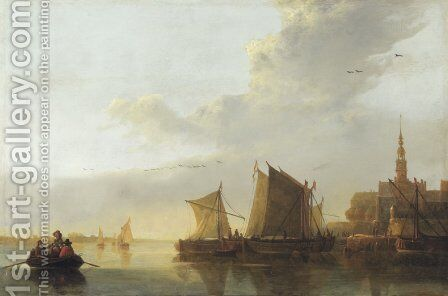 View of Dordrecht 2 by Aelbert Cuyp - Reproduction Oil Painting