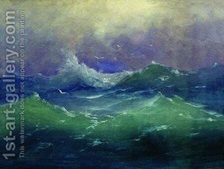 Waves by Arkhip Ivanovich Kuindzhi - Reproduction Oil Painting