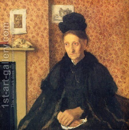 Portrait of Mrs Atkinson by Gwen John - Reproduction Oil Painting