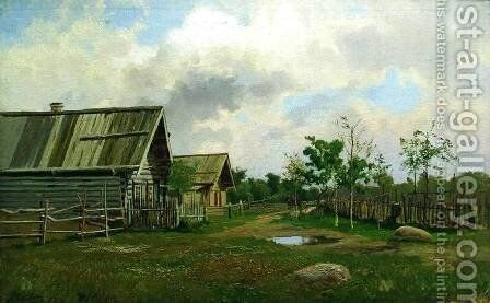 Rural Landscape by Efim Efimovich Volkov - Reproduction Oil Painting