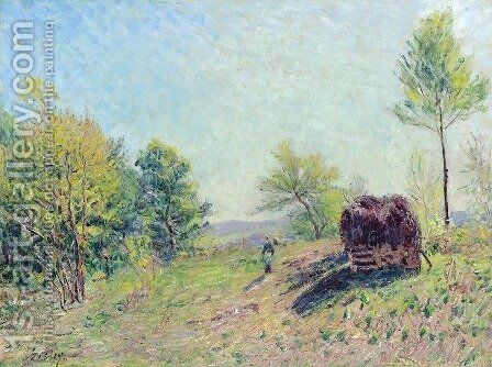 The Edge of the Forest by Alfred Sisley - Reproduction Oil Painting
