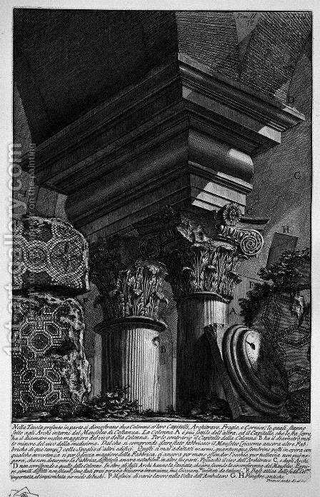 The Roman antiquities, t. 2, Plate XXIII. Remains of the great building burial added to the Mausoleum of Constance. by Giovanni Battista Piranesi - Reproduction Oil Painting