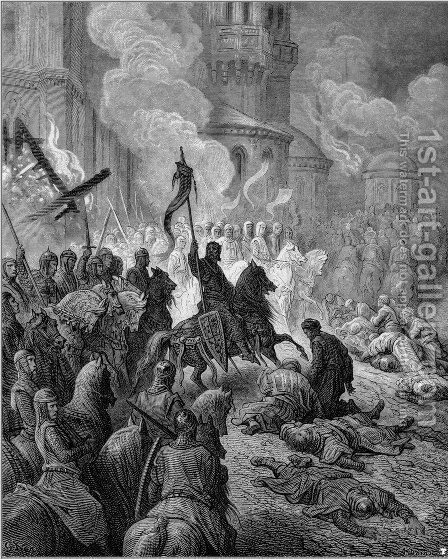 Entry of the Crusaders in Constantinople in 1204 by Gustave Dore - Reproduction Oil Painting