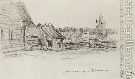 Peasant's hut by Isaak Ilyich Levitan - Reproduction Oil Painting