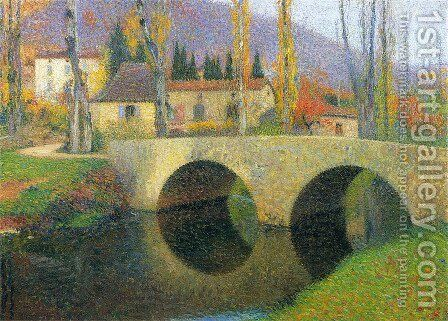 The Bridge in Labastide du Vert 4 by Henri Martin - Reproduction Oil Painting