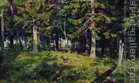 Clearing in the forest by Ivan Shishkin - Reproduction Oil Painting