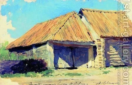 Stable by Isaak Ilyich Levitan - Reproduction Oil Painting